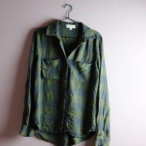 Cloth & Stone Green & Grey Plaid - M